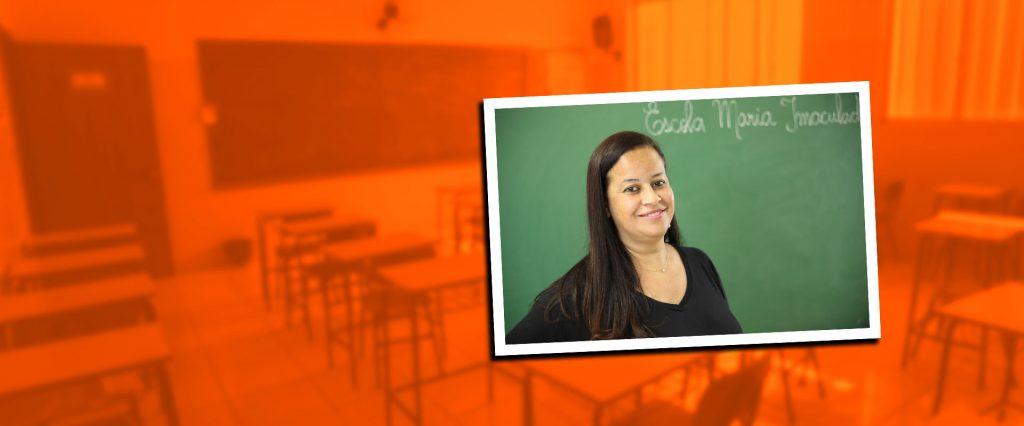 Professora Cíntia Rodrigues: 24 anos de parceria e amor