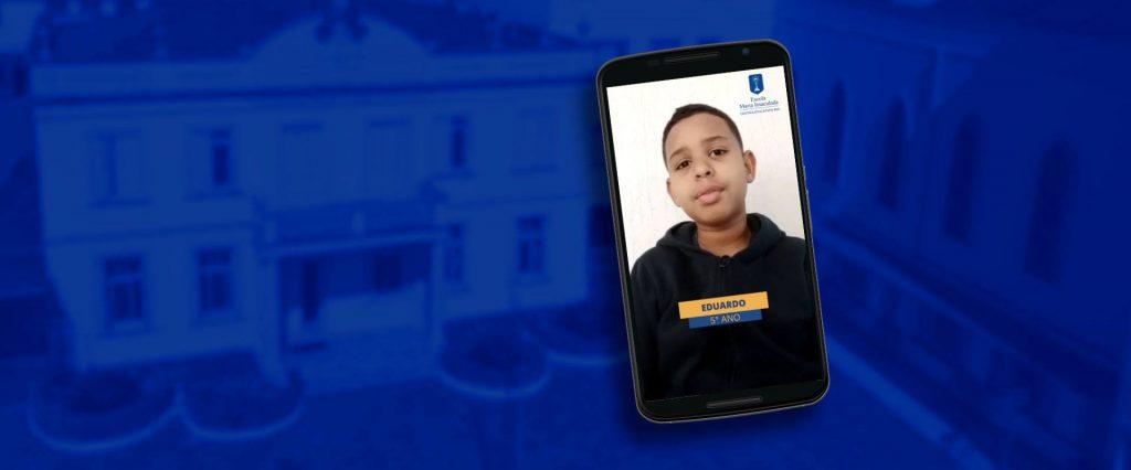 Pratas da Escola: Mensagem do aluno Eduardo